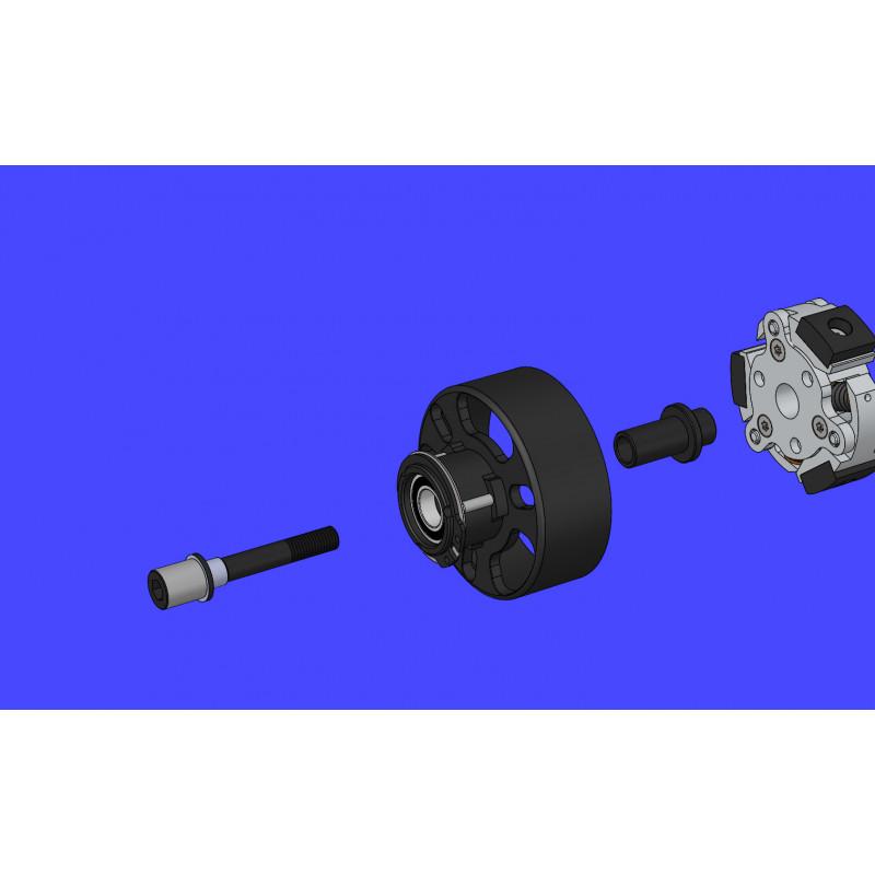 ALU WHEEL AXLE +1mm - HARD COATED (2) - 355251